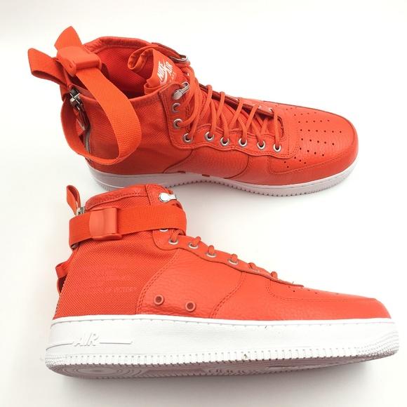 Nike Other - Nike Orange Team SF Air Force Mid G0811662
